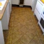 Tiles in a kitchen with a pattern the customer wanted