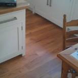 Oak in hallway kitchen and down stair w/c